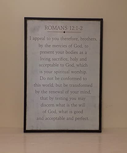 Amazoncom Romans 121 2 Wood Sign Christian Wooden Sign Scripture