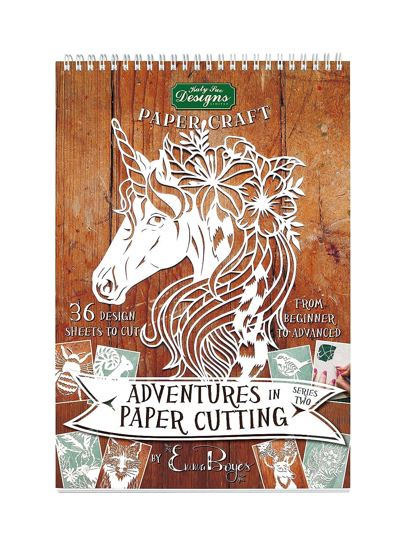 Paper cutting Series Two –  Papercut modelli, design e modelli –  perfetto per principianti: trasformare un singolo pezzo di carta in un' opera d' arte –  parte della serie avventure di Emma Boyes