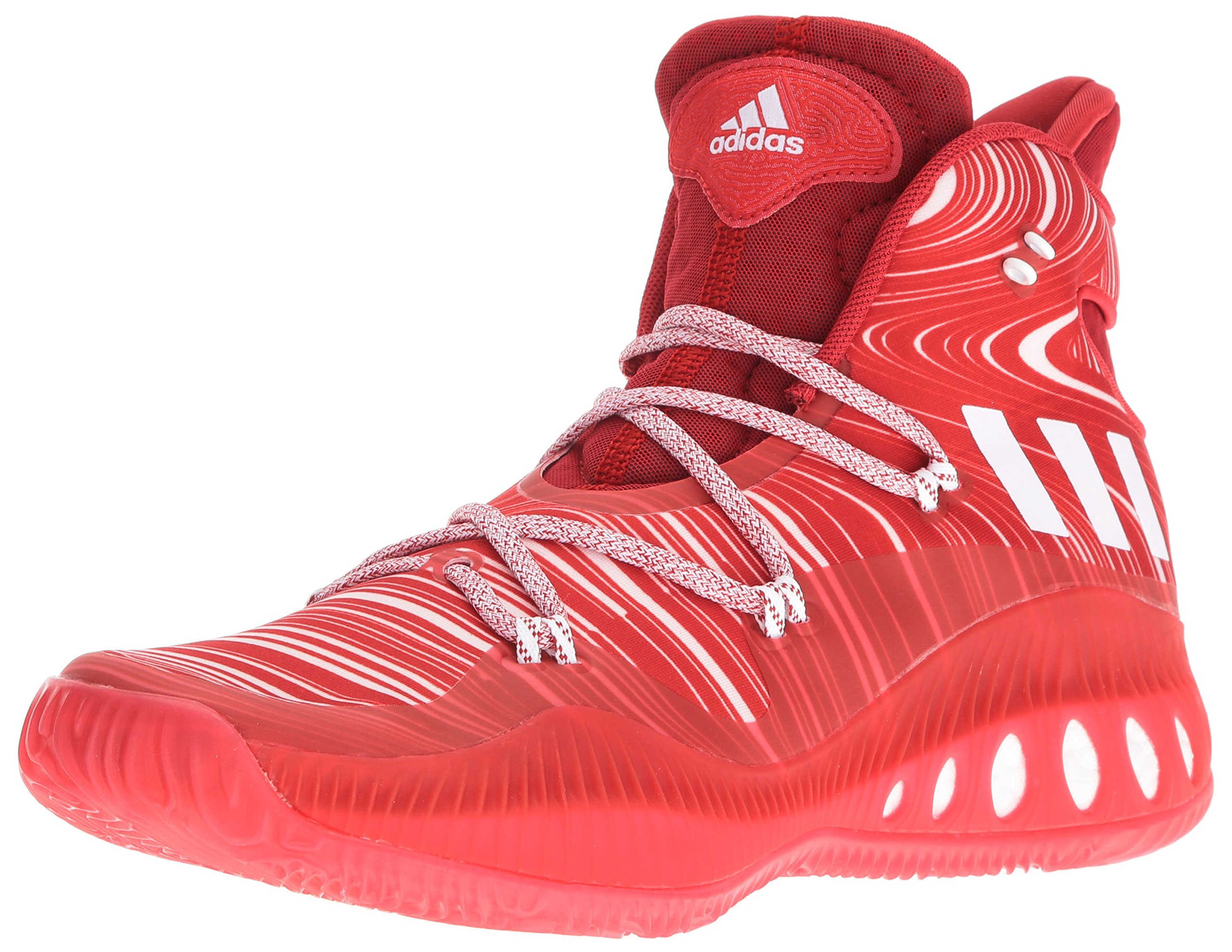adidas Men's Crazy Explosive Basketball Shoes, ScarletWhiteUniversity Red, (6.5 M US)