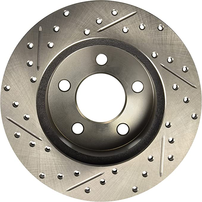 StopTech 227.67022R Select Sport Drilled and Slotted Brake Rotor; Front Right