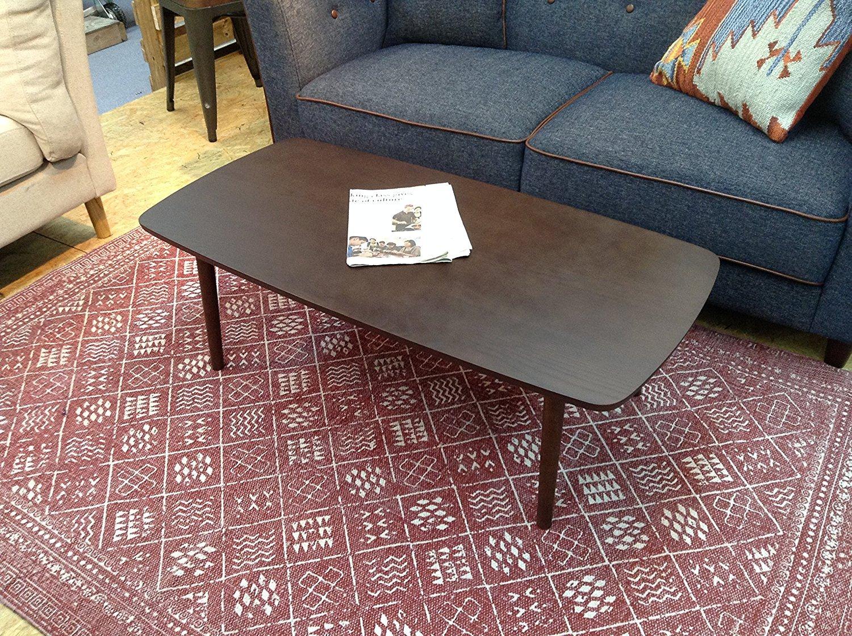 AZUMAYA Wooden Folding Legs Coffee Center Table SGS-229 (Dark Brown)