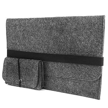 Lana Fieltro Naturalis® Bolsa de ordenador portátil móvil para todos los Ultrabook MacBook/Pro Retina iPad Pro de hasta 14 pulgadas: Amazon.es: Electrónica
