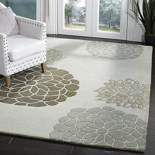Safavieh Soho Collection Handmade Light Grey Premium Wool Area Rug 9'6″ x 13'6″