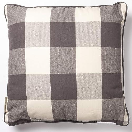 Primitives by Kathy Farmhouse Style Throw Pillow, 16 x 16-Inches, Buffalo Check