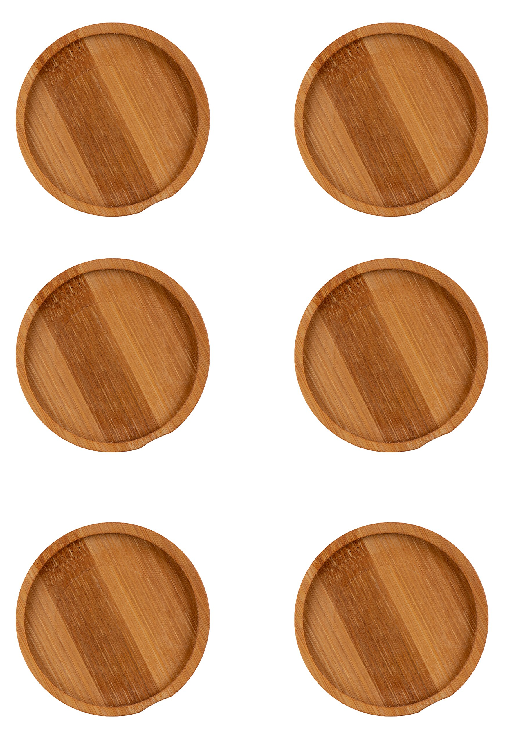 Juvale Wood Coasters - 6-Pack Round Wooden Coasters