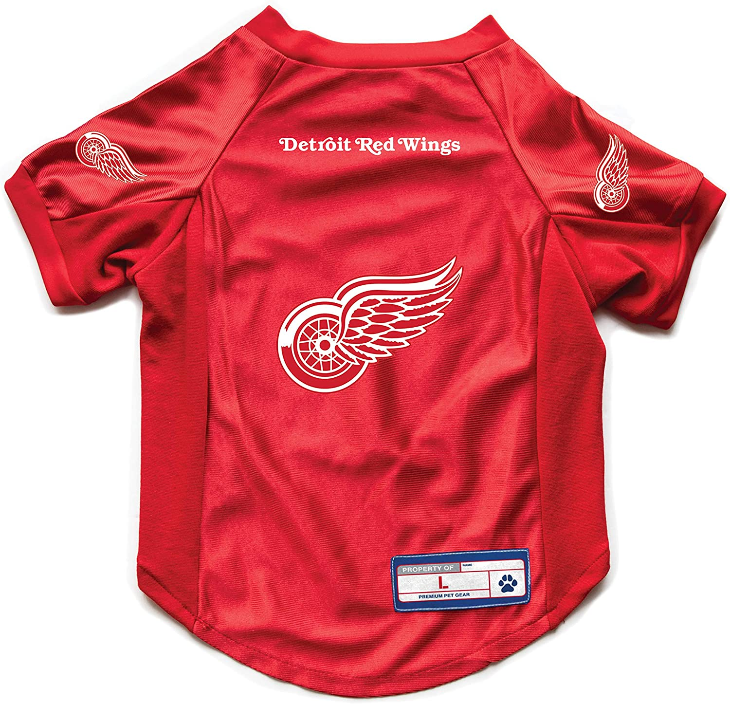 X-Large Littlearth NHL Detroit Red Wings Pet Stretch Jersey