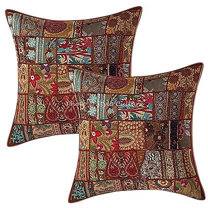 Amazon.com: Stylo Culture Ethnic Decorative Throw Pillows ...