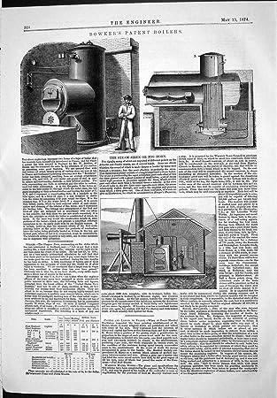 Technik von Bowker-Patent-Kessel-Dampf-Sirenen-Nebel-Horn ...