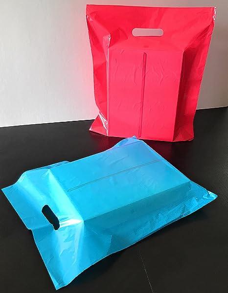 "100 15/"" x 18 x 4/"" NEW PINK GLOSSY Low-Density Premium Plastic Merchandise Bags"