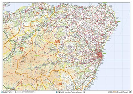 Amazon.com : Aberdeen - AB - Postcode Wall Map - 47\