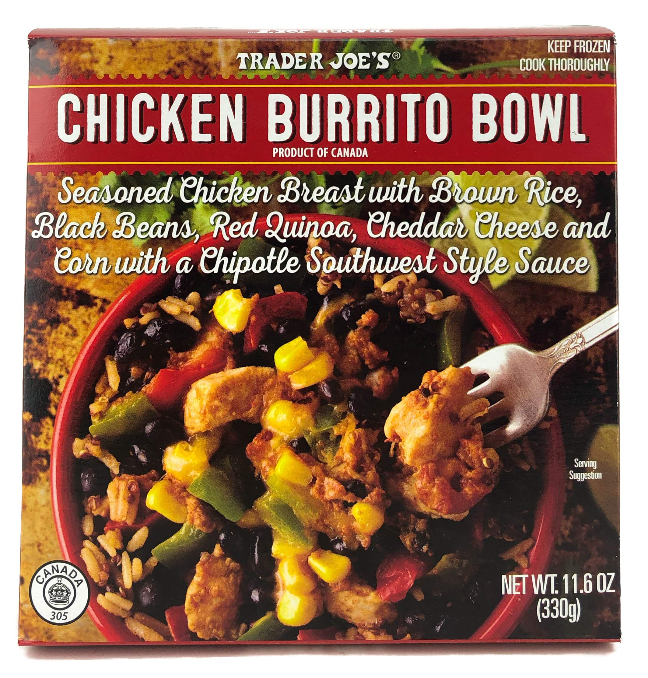 Trader Joe's Chicken Burrito Bowl (6 Pack)
