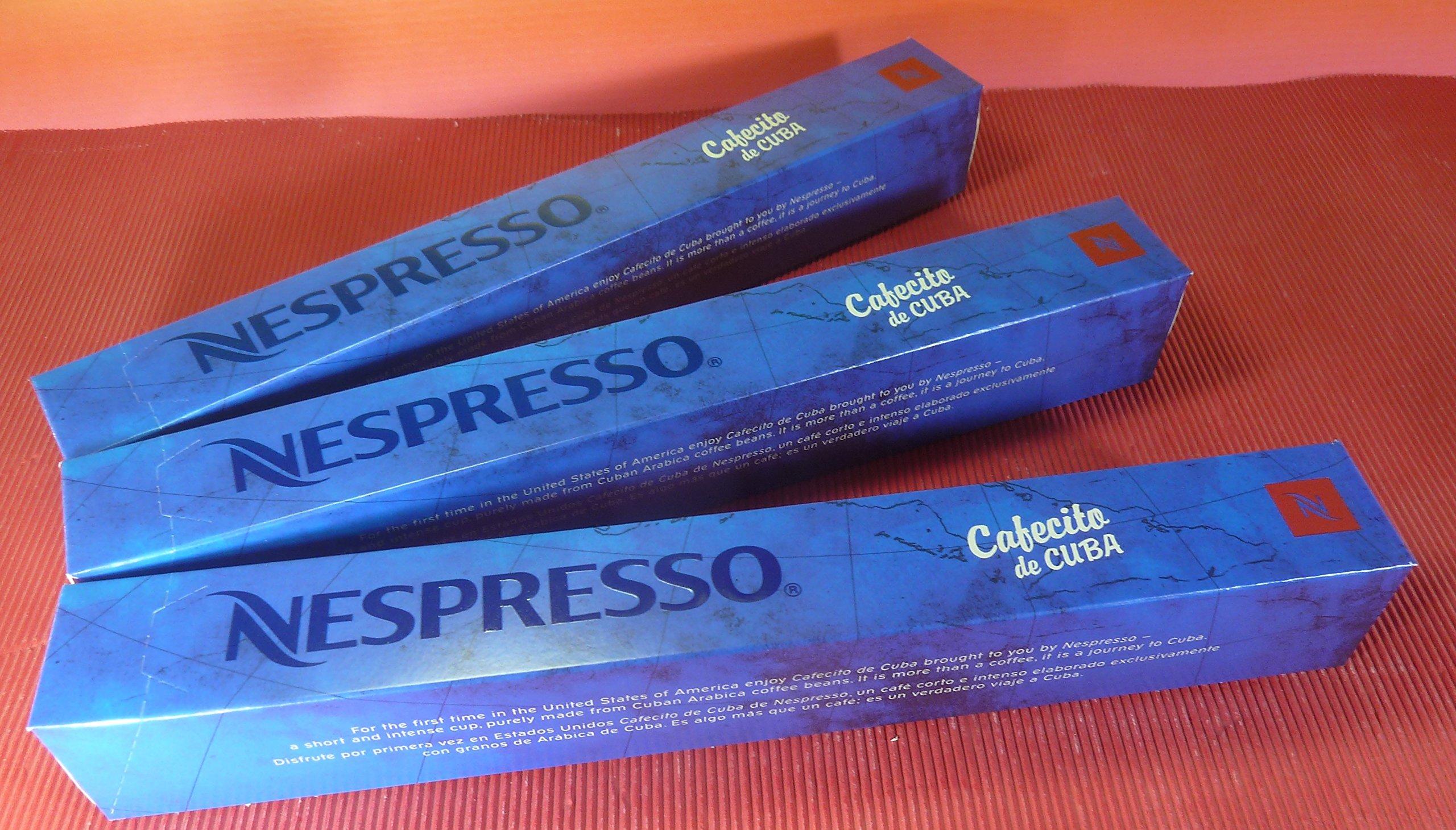 NESPRESSO CAFECITO DE CUBA 3 SLEEVES INTENSITY 10,FRESH