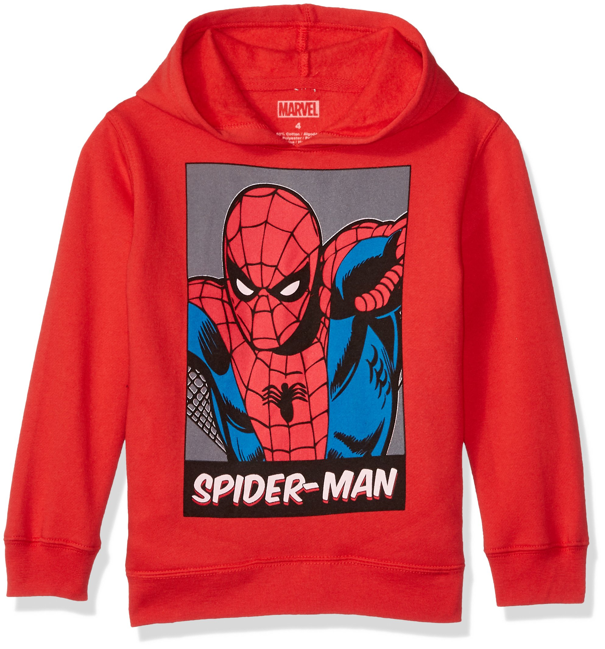 Marvel Boys' Little Spider-Man Pullover Sweatshirt red, 7