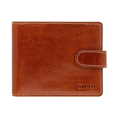 164f1d9532cd Giudi Deluxe Genuine Leather Bifold Mens Wallet - Made in Italy ...