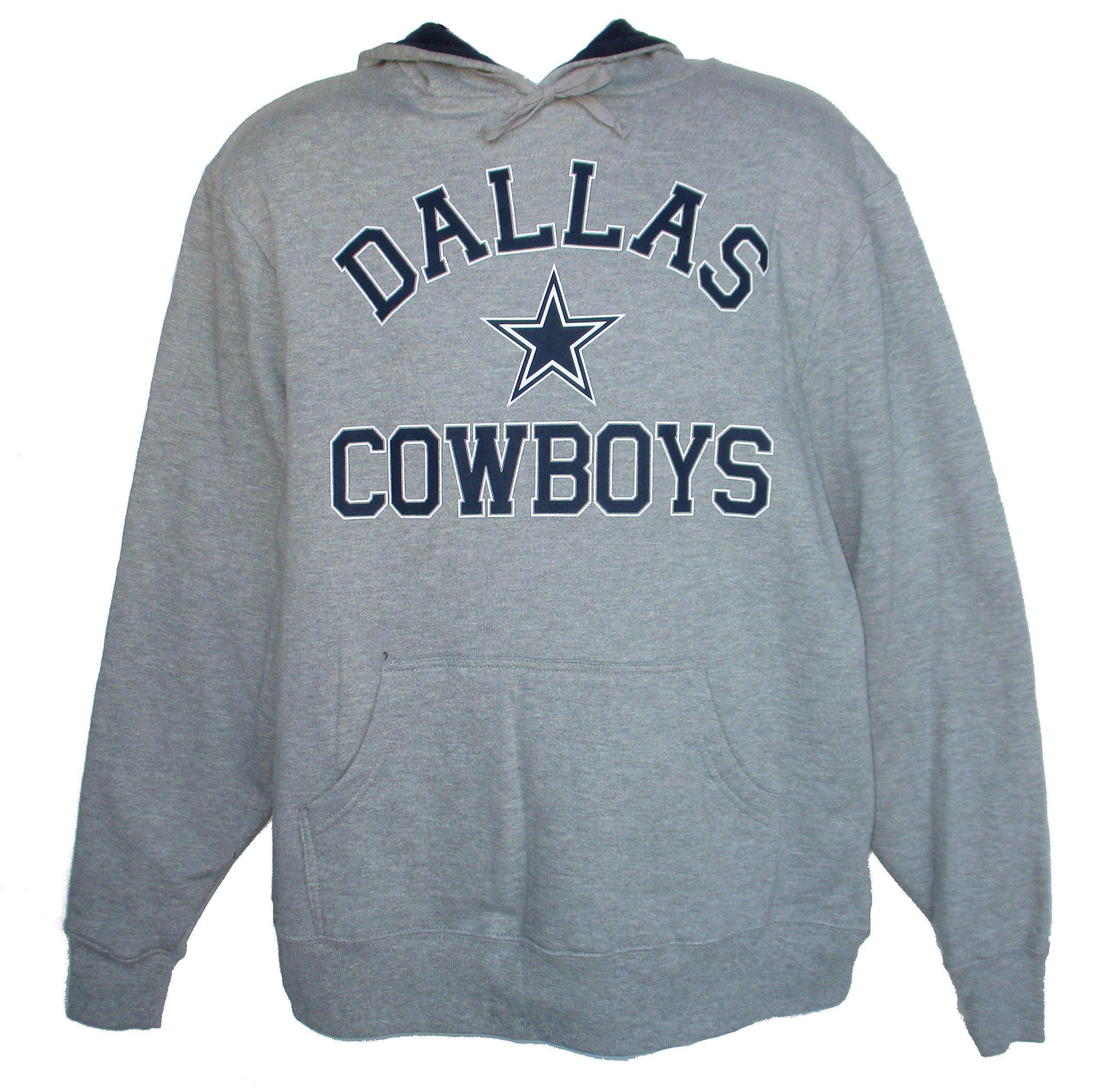 Dallas Cowboys Sack Adult Size Large Hooded Sweatshirt - Gray