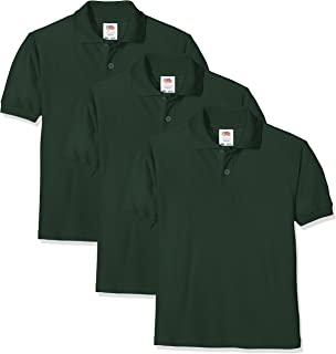 f43f9bc99e3b Fruit of the Loom Unisex Kids 65/35 Short Sleeve Polo Shirt: Amazon ...