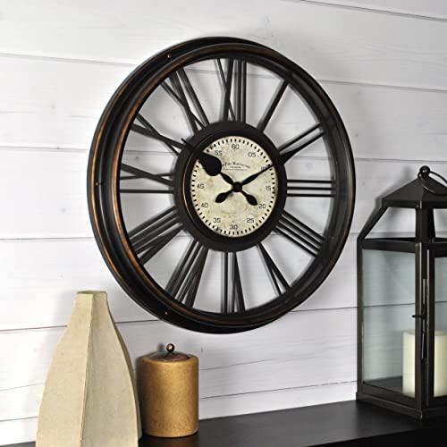 FirsTime Co. FirsTime Sutton Wall Clock, 17.5 , Black