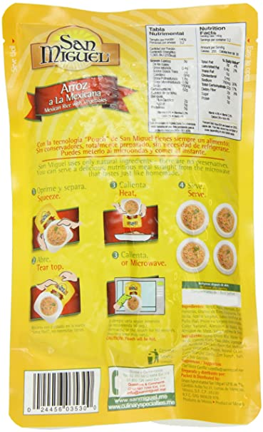 Amazon.com : San Miguel Mexican Rice with Vegetables, 15.8 ...
