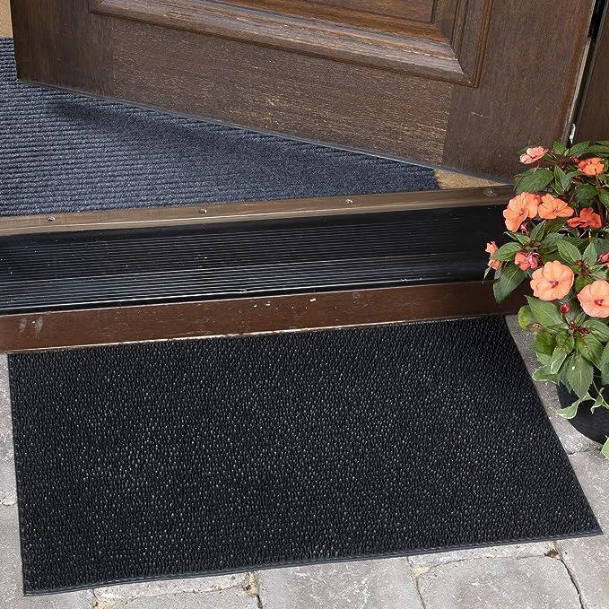 Ottomanson Rdm Rubber Doormat 18 X30 Black Furniture Decor