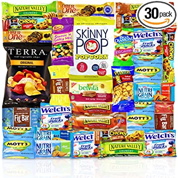 amazon com healthy snacks care package count 30 discover a