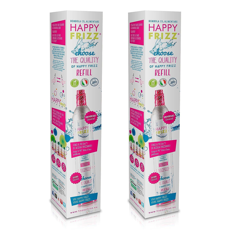 Happy Frizz 2 BOMBOLE PER GASATORE - In vendita - per tutti i gasatori SODASTREAM* - Universali* HF TECHNOLOGIES S.p.A. - Polo produttivo Biotech Trentino S.p.A.