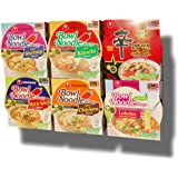 Nongshim Bowl Instant Noodle Soup Assorted Bundle 6 Flavors: Shin Bowl + Lobster + Spicy Shrimp + Spicy Kimchi + Spicy Chicken + Hot & Spicy (12-pack)