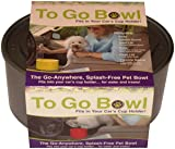 Furry Travelers To Go Pet Bowl, Silver