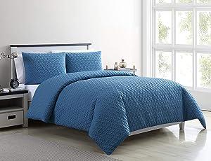 VCNY Home Mykonos Duvet Cover Sets, Queen, Blue