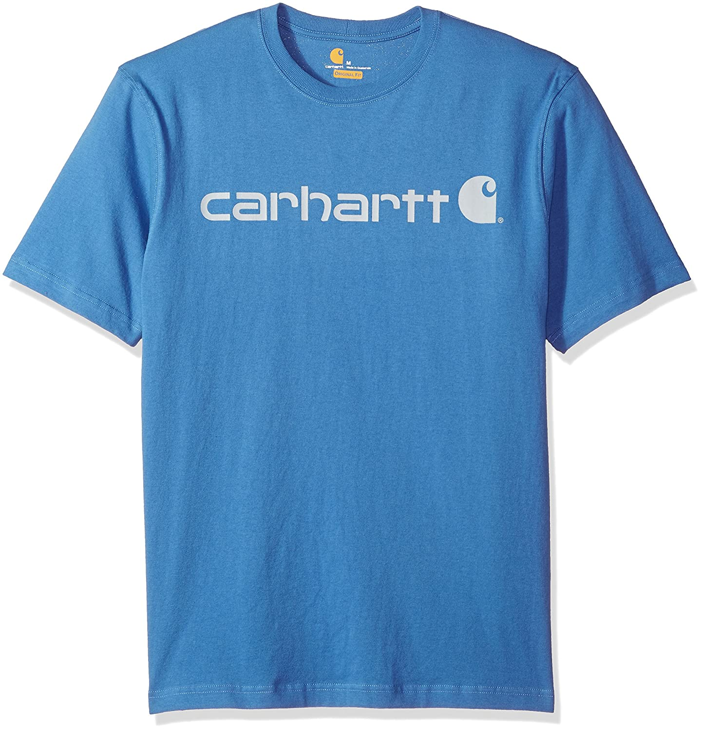 Carhartt Men's B&t Signature Logo Short-Sleeve Jersey T-Shirt K195