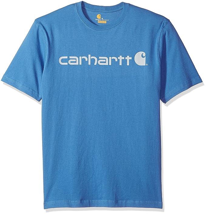 aee7edda3b Carhartt Men's Big and Tall B&T Signature Logo Short-Sleeve Jersey T-Shirt  K195