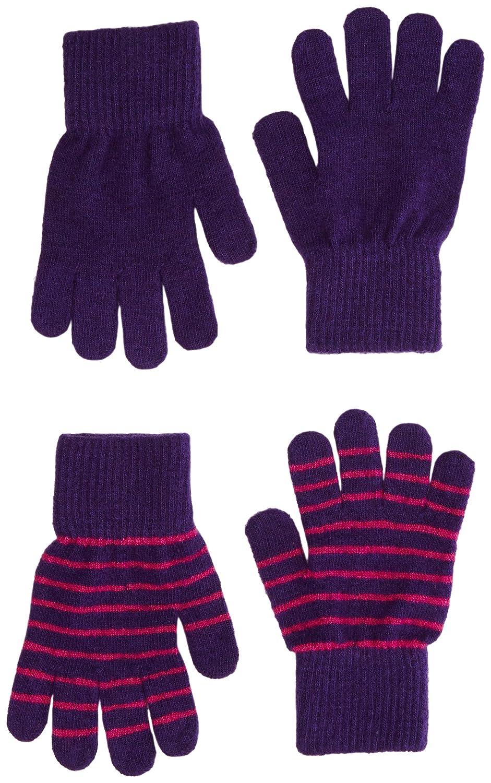 2 Pck. Wool Blend Kids Gloves - Unisex-Boy-Girl (3-6 Years) 3-6 years) 3955