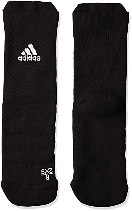 adidas Alphaskin Leightweight Cushioning Crew Socks Calcetines, Unisex Adulto, (Negro/Blanco)