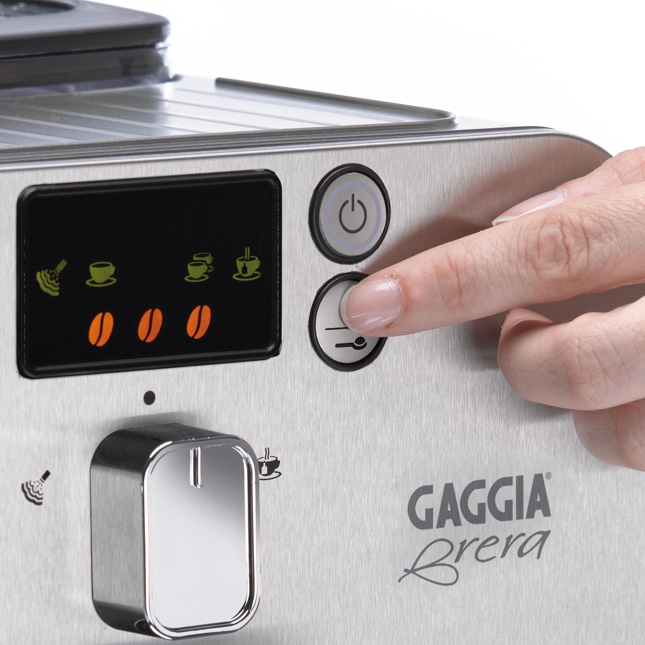 Gaggia Brera Super Automatic Espresso Machine in Silver. Pannarello Wand Frothing for Latte and Cappuccino Drinks. Espresso from Pre-Ground or Whole Bean Coffee. by Gaggia (Image #7)