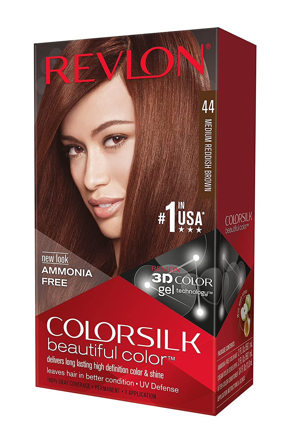 Revlon ColorSilk Haircolor, Medium Reddish Brown