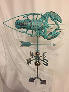 product image for Furniture Barn USA Large Handcrafted 3D 3- Dimensional Lobster Weathervane Copper Patina Finish