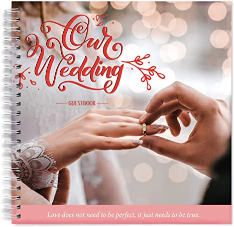 Wedding Guest Book Beautiful White Bride Groom Ceremony Gift Guestbook Notes