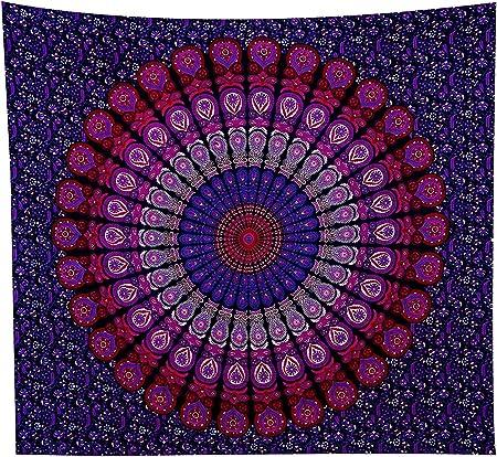 GLOBUS Choice InC. Tapiz azul para colgar en la pared, tapices de mandala, colcha de algodón indio.: Amazon.es: Amazon.es