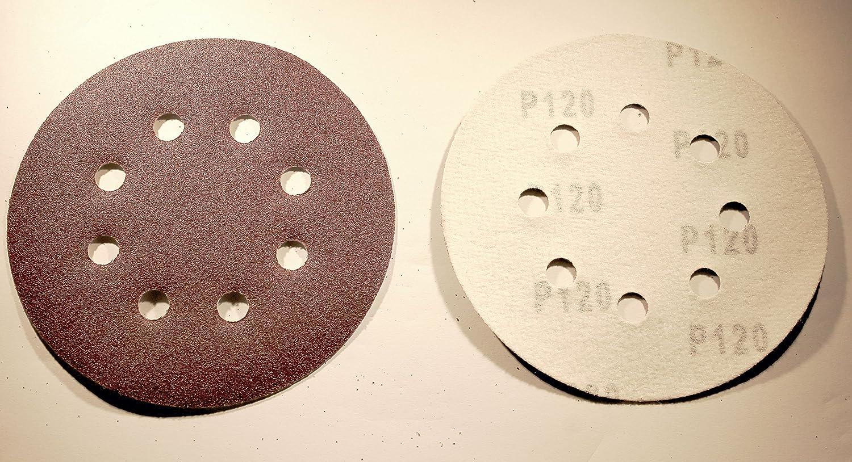 100 Blatt Exzenter Schleifpapier 125 mm Haftschleifpapier K240 Schleifscheiben