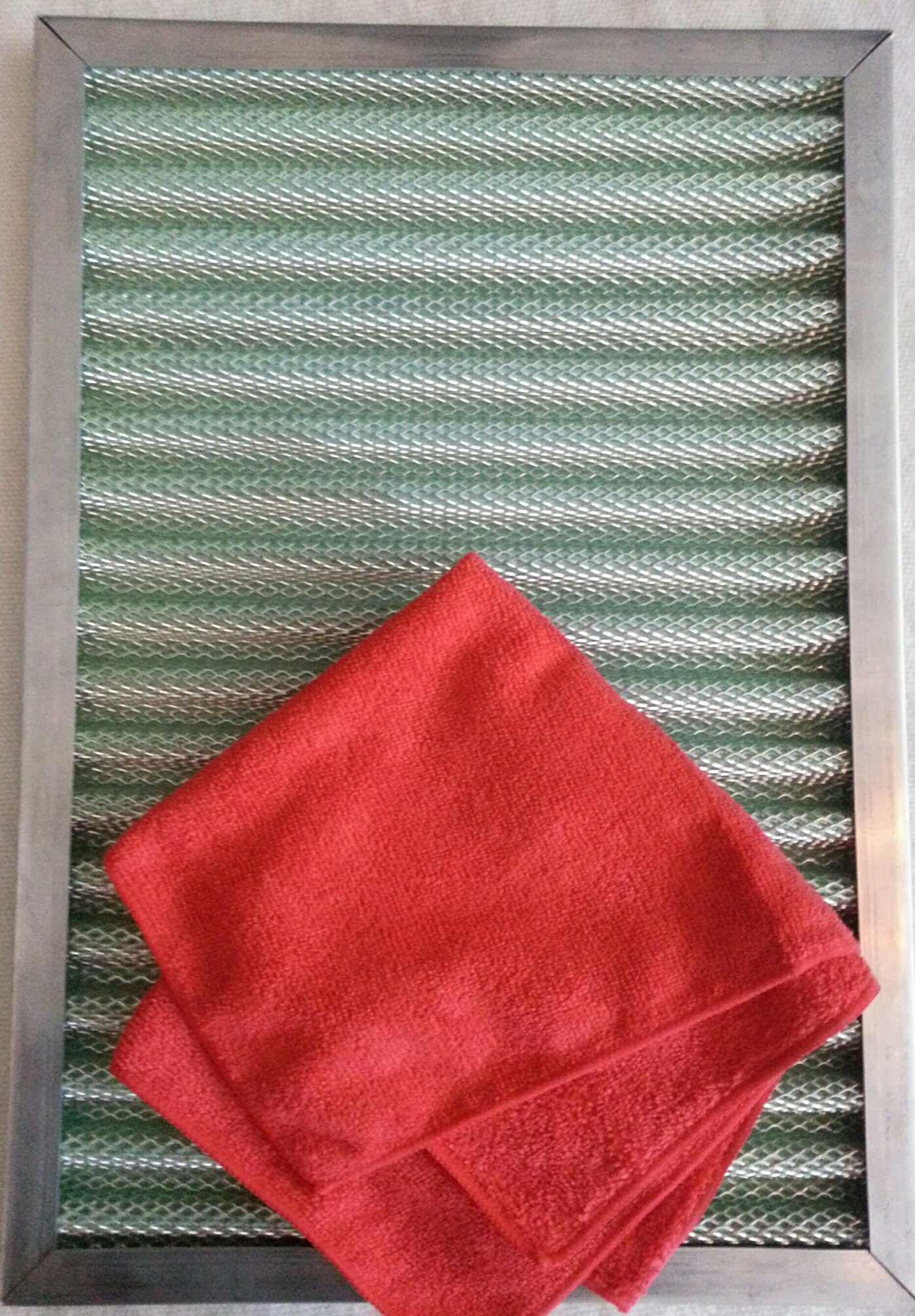AIR FILTER PLEATED FOAM PERMANENT WASHABLE BEATS ELECTROSTATIC LASTS FOREVER ALUMINUM NOT CHEAP RUSTING GALVANIZED +FREE SUPER MICROFIBER DUSTING CLOTH (14X24X1)
