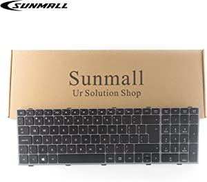 SUNMALL New Laptop Keyboard with Grey Frame and Big Enter Key Compatible with HP ProBook 4540s 4540 4545s Series US Layout