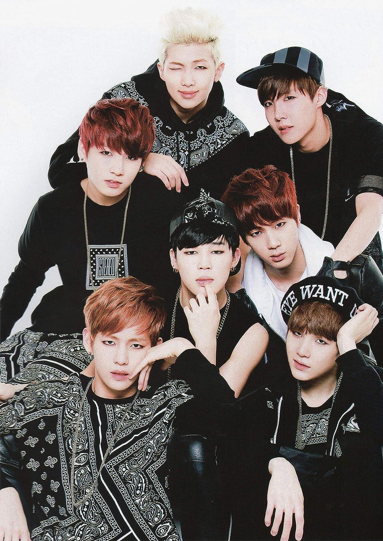 WallHandmadeDecor BTS Poster Hip Hop Art Bangtan Boys Gifts for Girls K-Pop Room Decor Bangtan Boys Poster Wall Art (24x32)