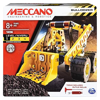Erector by Meccano Bulldozer Model Vehicle Building Kit, STEM Education Toy for Ages 8 & up: Toys & Games
