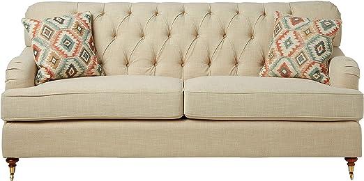 Amazon.com: Acme Muebles 52582 Alianza silla, color beige ...