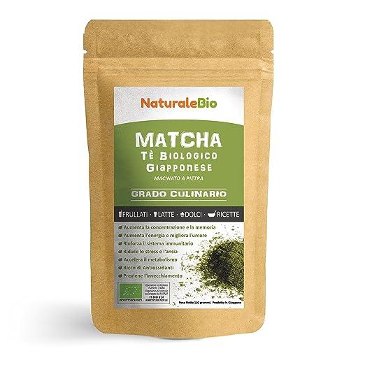 15 opinioni per Tè Verde Matcha Biologico in Polvere [ GRADO PREMIUM CULINARIO ] da 100 grammi |