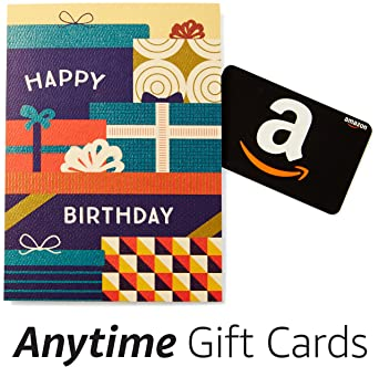amazon happy birthday premium greeting card with anytime gift card pack of 3 - Birthday Card Packs