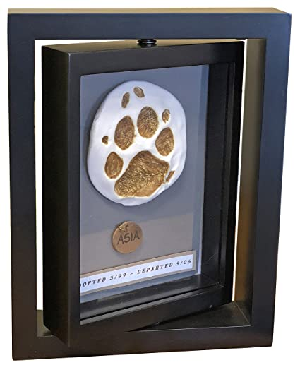 a93a9224ee06 Image Unavailable. Image not available for. Color: Makin's Clay Memorial  Frame Pet Dog Cat Paw Print ...