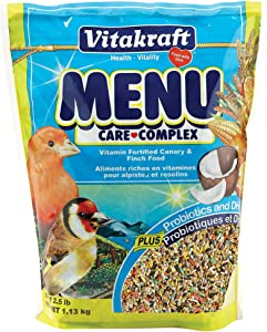 Vitakraft Menu Vitamin Fortified Canary & Finch Food, 2.5 Lb.
