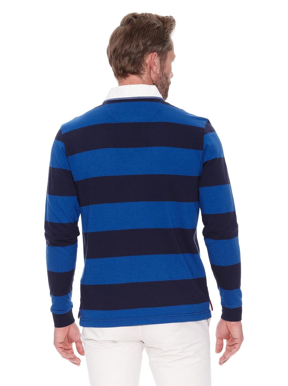 Cortefiel Polo Rugby con Cuello Denim Azul Marino M: Amazon.es ...