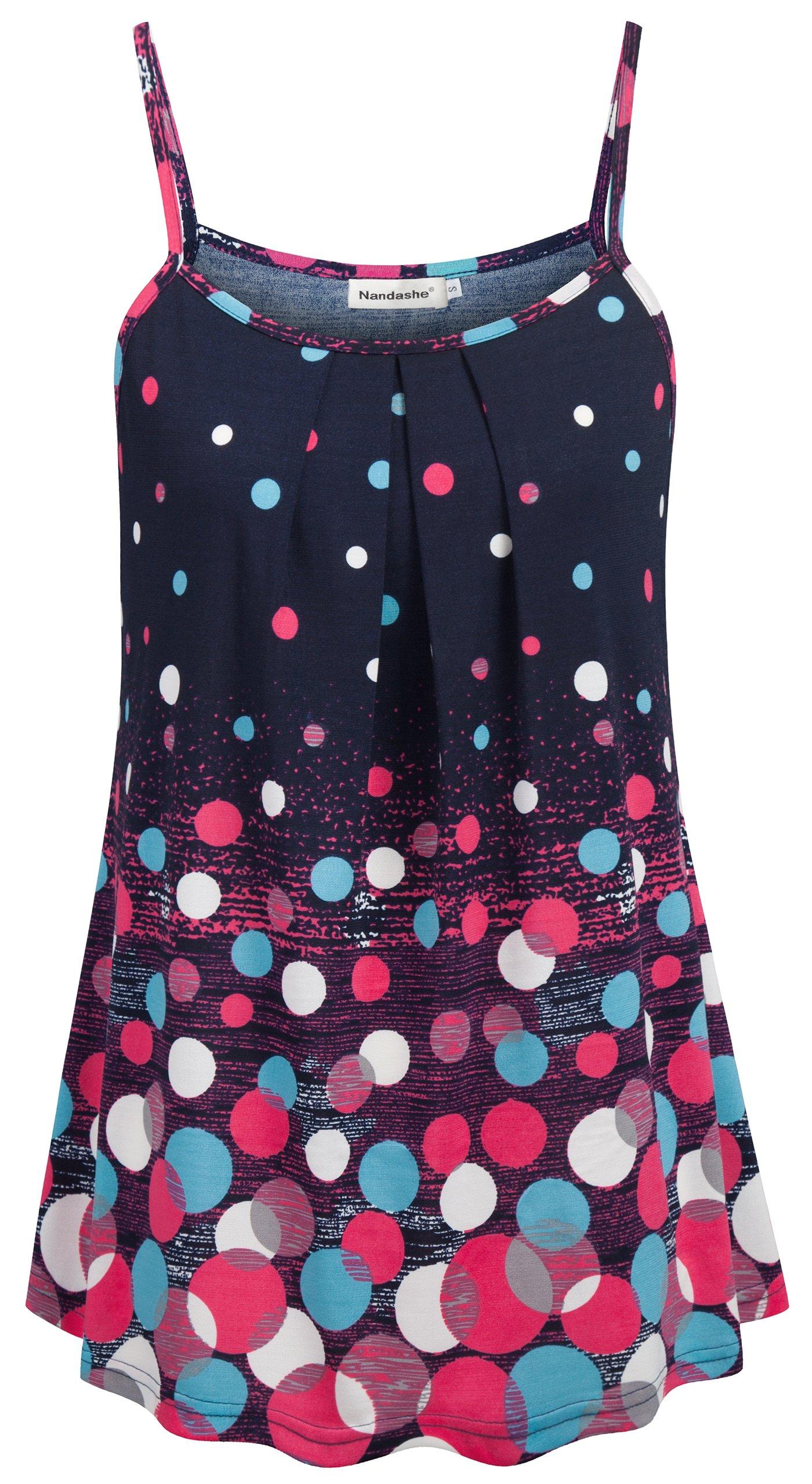 Nandashe Long Tank Tops for Women, Feminie Popular Ribbed Bohemian Flower Pattern Lucky Saying Caged Disney Gathere Sharkbite Sparkle Backless Asymmetrical Trapeze Tee Shirt Plus Size Burgundy XXL