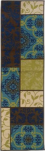 Oriental Weavers 3066V Caspian Outdoor/Indoor Area Runner Rug